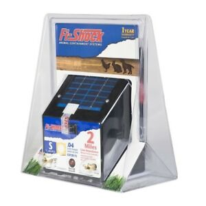 Fi shock Outdoor 2 Mile Solar Powered Electric Wire Fence Energizer Controller