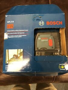 Bosch Gpl 3 S 100ft 3 point Self leveling Alignment Laser Brand New Sealed