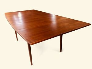 5 Vtg Mid Century Modern Walnut Dining Chairs By Lane Dining Table Hutch