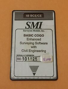 Smi Cogo Civil Engineering Card For Hp 48gx Calculator