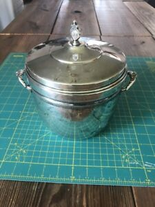 Heavy Silver Plated Ice Bucket From S F Co Vacuum Insulated Inside 4 5 Pounds