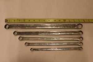 Set Of 5 Snap on 12 Pt Metric Flank Drive Standard 0 Offset Box Wrenches