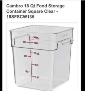Cambro Food Storage Containers 18 Quarts Clear 4