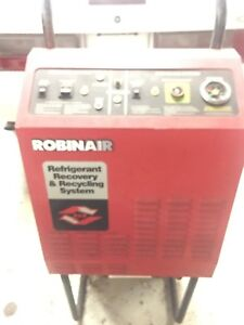Robinair R12 Refrigerant Recovery Recycling And Recharging Station Machine