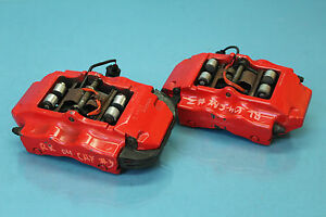 2004 Porsche Cayenne 4 5l V8 Turbo 3 Rear Brembo Brake Calipers Pair Red Oem