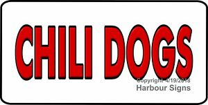 choose Your Size Chili Dogs Decal Concession Food Truck Vinyl Sign Sticker