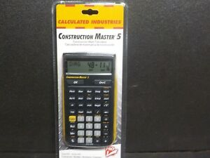Calculated Industries Construction Master 5 Scientific Calculator 4050 new