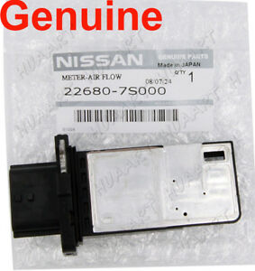 3nissan Mass Air Flow Meter Sensor Maf Factory Oem 22680 7s000 Afh70m 38 Af Ns01