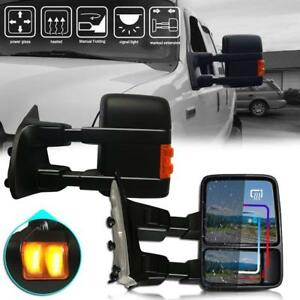 For 99 07 Ford F250 f550 Super Duty View Side Towing Mirrors Power Heated Signal
