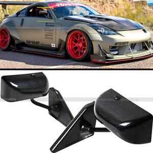 For 94 01 Integra Dc2 F1 Style Manual Adjustable Carbon Painted Side View Mirror
