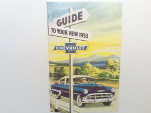 1953 Chevrolet Bel Air Owners Manual For Your Glovebox