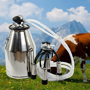 Milk Bucket 304 Stainless Steel Cow Milker Top Quality Cow Milking Equipment