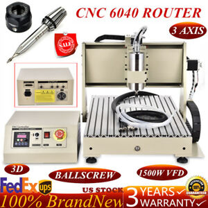 1500w 3axis Engraver Cnc6040 Router Engraving Drilling Milling Machine 3d Cutter