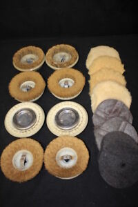 17 Vintage Floor Polisher Rotary Orbital Scrubbing Brushes Buffing Pads 5 1 2