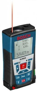 Bosch Laser Distance Measurer 825 Ft Outdoor Range Beam Meter Timer Hand Tool