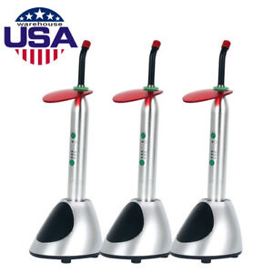 Usa 3x Dental Wireless Cordless Led Curing Light Lamp Ys c 2700mw c High Power
