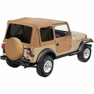 Open Box Bestop Soft Top Tan Jeep Wrangler 1988 1995