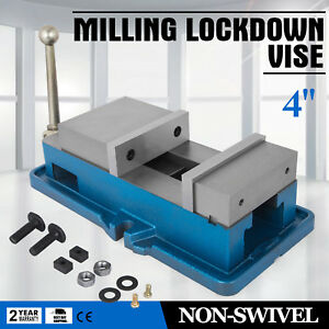 4 Non swivel Milling Lock Vise Bench Clamp Drilling Hardened Metal Precision