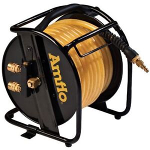 Amflo 545hr ret Manual Hose Reel With 200 Psi 3 8 X 75 Polyurethane Gold Air