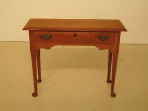 F38749ec Statton 1 Drawer Cherry Console Hall Table