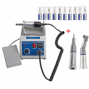 Dental Lab Marathon 35k Rpm Handpiece Electric Micro Motor 10 Drills Burs