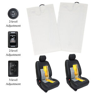 Carbon Fiber Insert Heated Seat Heater Kit 2 dial 5 level Switch