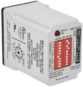 Macromatic Td 88168 Time Delay Relay 24vac dc 10a spdt