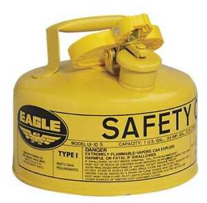 Eagle Ui10sy 1 Gal Yellow Galvanized Steel Type I Safety Can For Diesel