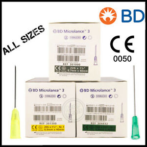 Needles Sterile Genuine Authentic Bd Microlance 3 Value Packs Ie Fast
