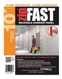 Fr Barrier Panel 10ftlx12fth white Zipwall Zf10r