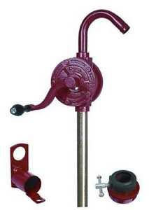 Hand Drum Pump rotary cast Iron 1 In Od Dayton 40m295