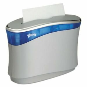 Kleenex Reveal Countertop Folded Towel Dispenser Gray blue kcc51904