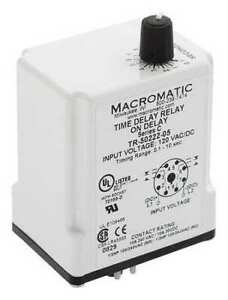 Macromatic Tr 50528 05 Time Delay Relay 24vac dc 10a dpdt