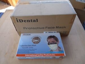 200 Disposable Protective Face Mask With Both Sides Anti Fog Eye Shield