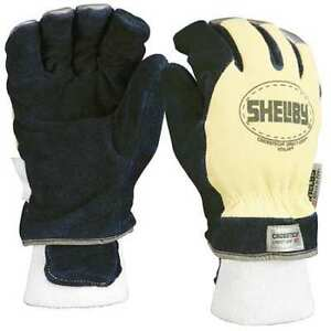 Firefighters Gloves m cowhide Lthr pr Shelby 5284m