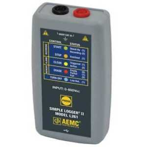 Voltage Data Logger 0 To 600vac dc Aemc L261