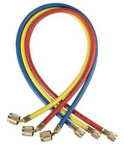 Yellow Jacket 22984 Manifold Hose Set 48 In red yellow blue