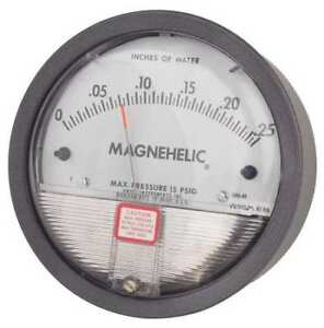 Dwyer Magnehelic Pressure Gauge 0 To 0 25 In H2o Dwyer Instruments 2000 00