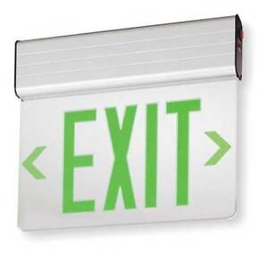 Acuity Lithonia Aluminum Led Exit Sign With Battery Backup