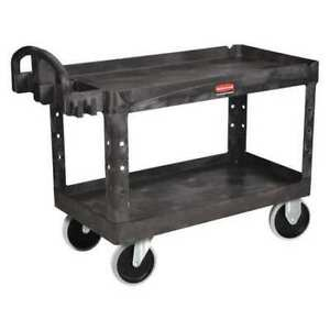 Utility Cart 750 Lb Load Cap Rubbermaid Fg454600bla