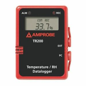 Data Logger temperature And Humidity Amprobe Tr200 a