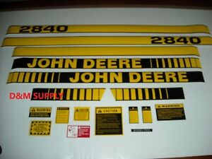 To Fit John Deere 2840 Tractor Decal Set With Caution Decals