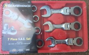 Gearwrench 9570 7 Piece Sae Stubby Flex Head Combination Ratcheting Wrench