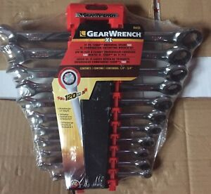 120xp Universal Spline Sae Xl Combination Ratcheting Wrench Set 11pc Gearwrench