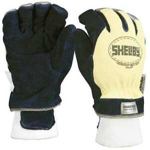 Firefighters Gloves xl cowhide Lthr pr Shelby 5284xl