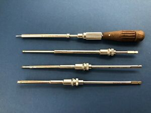 Synthes Twist Drill Screwdriver With Shafts set Of 4 Ref U44 645 18