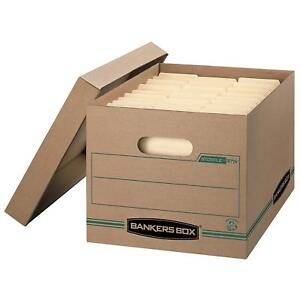 Bankers Box Stor file 100 Recycled Basic duty Storage Boxes With Lift off Lid