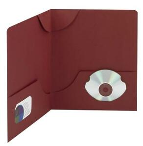 Smead Lockit Two pocket File Folder Up To 50 Sheets Letter Size Maroon 25