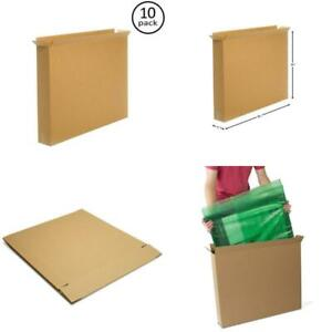 10 Pack Moving Box Shipping Storing Packing Boxes For Tv Mirror Art Large Items