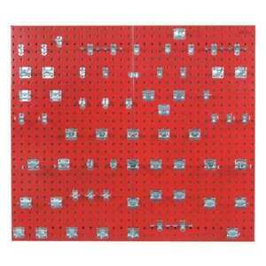 Pegboard Kit red square 42 1 2 h 24 w Locboard Lb2 rkit